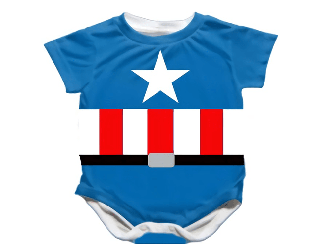 Ropa Bebe Body Bodie Capitan America Baby Monster