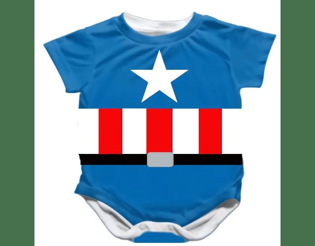 Ropa Bebe Body Bodie Capitan America Baby Monster