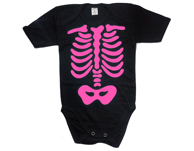 ropa para bebe Body esqueleto baby monster