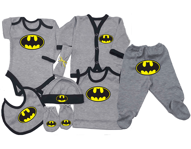 Set Primera Muda comics batman Ropa Para Bebe Baby Monster
