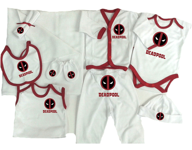 Set Primera Muda comics deadpool Ropa Para Bebe Baby Monster