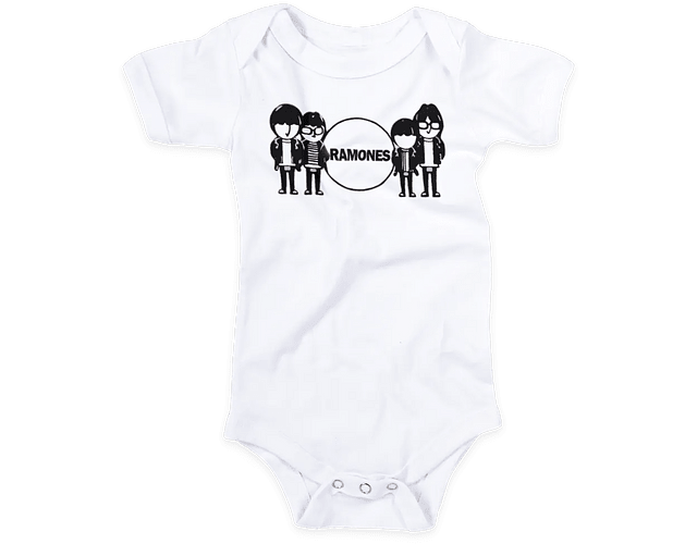 Ropa Bebe Body Bodie rock Ramones Band Baby Monster