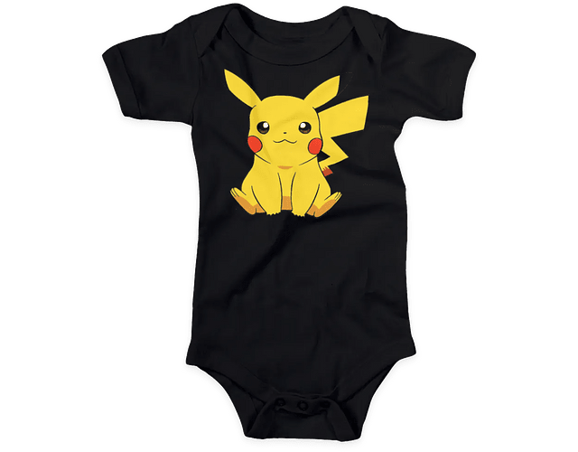 Ropa Para Bebe Body Bodie pikachu Comic Baby Monster