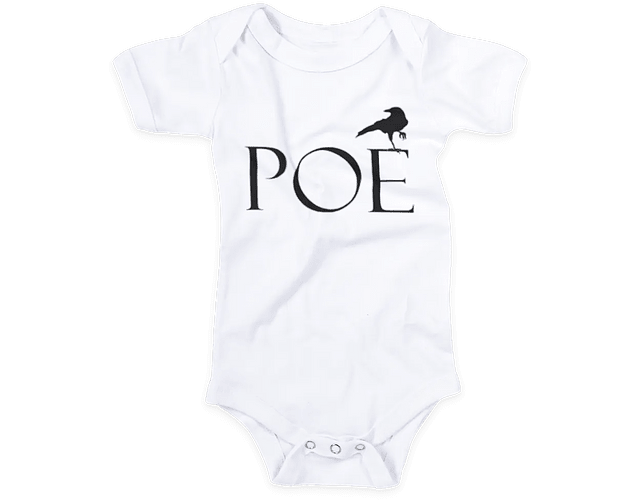 Ropa Bebe Body Edgar Allan Poe Baby Monster