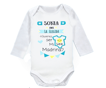 Body para bebe eres la madrina elegida- Baby monster