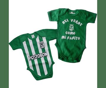 Set Ropa Para Bebe Body Bodie Nacional y del verde Baby monster