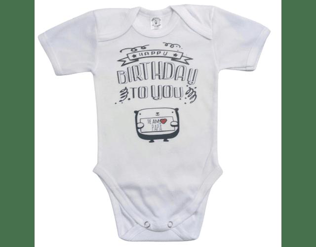 Body para bebe feliz cumpleaños bebe, personaliza frase