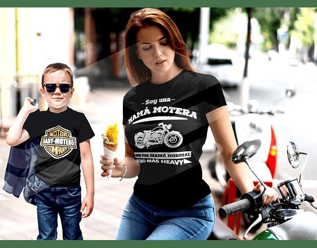 camiseta para mama e hijo regala kit para mamá motera