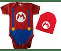 Ropa Para Bebe conjunto bodi y gorro Mario Bross Baby Monster