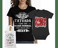 camiseta para mama e hijo regala kit para mamá rockera