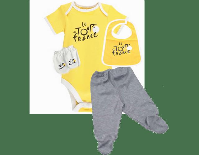 Set Primera Muda tour de francia amarillo Para Bebe Baby Monster