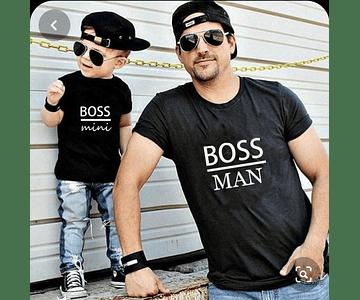 camisas para papa body bebe kit papa Boss man día del padre