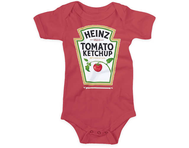 Ropa Para Bebe Body Bodie salsa de tomate, mayonesa y mostaza