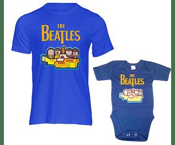 camisetas para Papá y bebe The Beatles yellow submarine