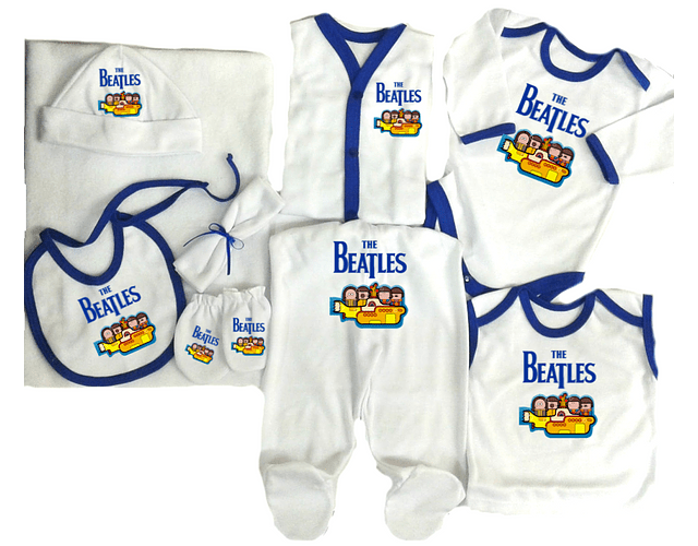 Set Primera Muda Rock The beatles Para Bebe Baby Monster