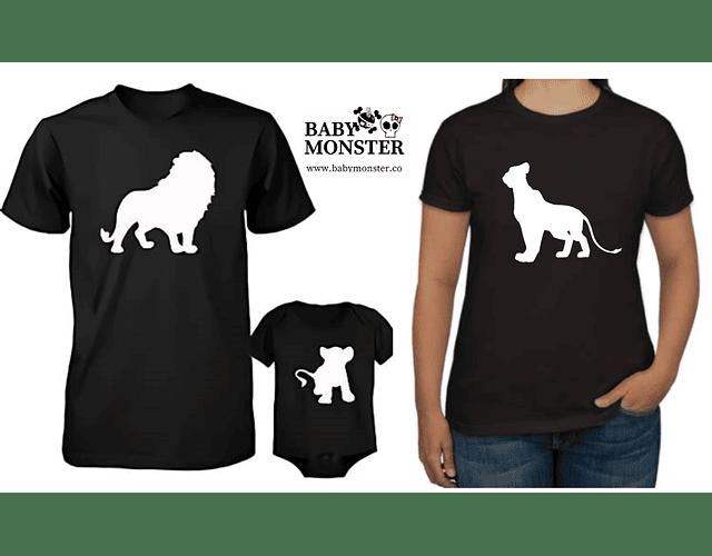 camisetas para Mamá  papá y bebe rey leon familia