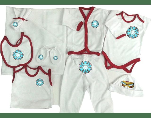 Set Primera Muda comics ironman Ropa Para Bebe Baby Monster