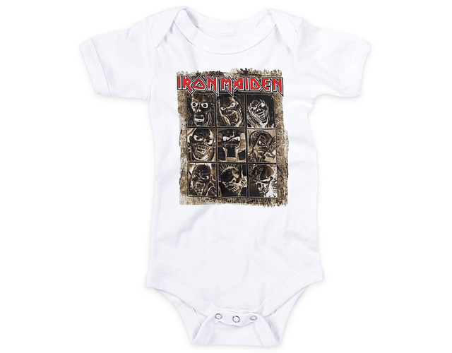 Ropa Para Bebé Body Bodie iron maiden eddie Baby Monster