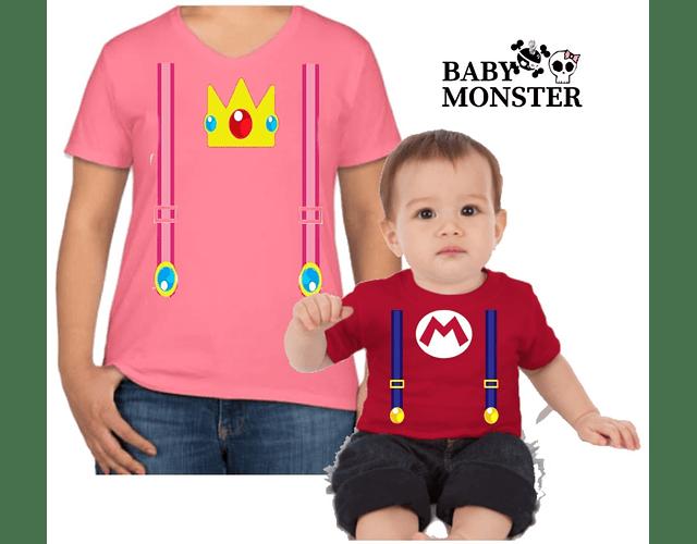 Halloween camisetas para toda la Familia Mario bross