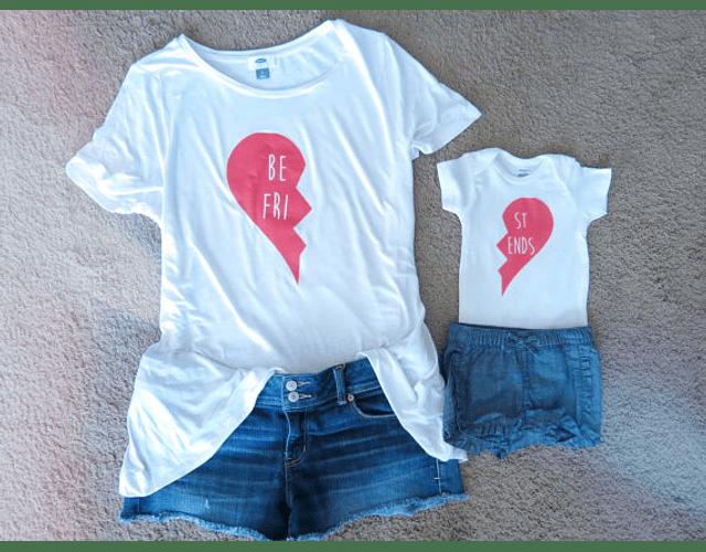 Camiseta y Body Bodie Dúo bebé y Mamá Best Friends