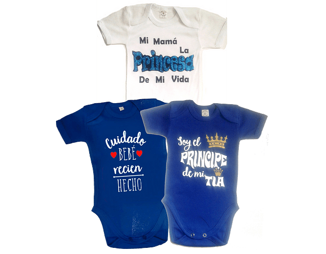 Set De 3 Body Bodie Frases Para Bebe Niño Baby Monster