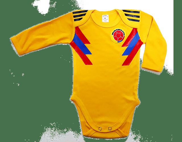 Body Bodie Para Bebe Futbol Seleccion Colombia Manga Larga