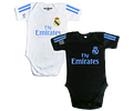 Set Ropa Para Bebe Bodys Futbol Real Madrid