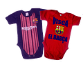 Set Ropa Para Bebe 2 Body Bodie Barcelona Baby Monster