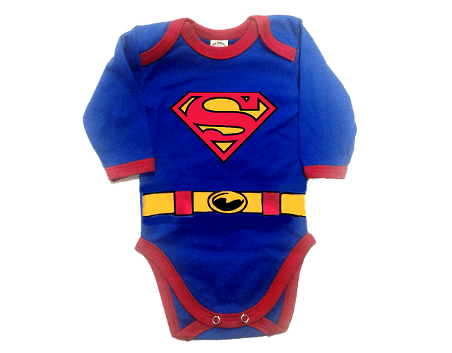Body Bodie Superman Manga Larga Baby Monster