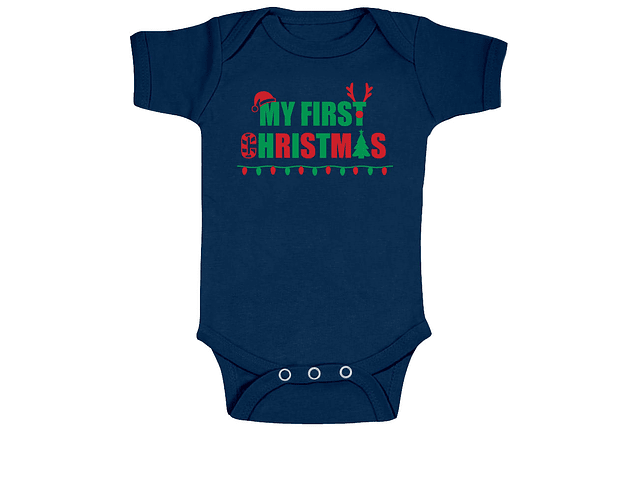 Ropa Bebe Body Bodi mi primera navidad Baby Monster