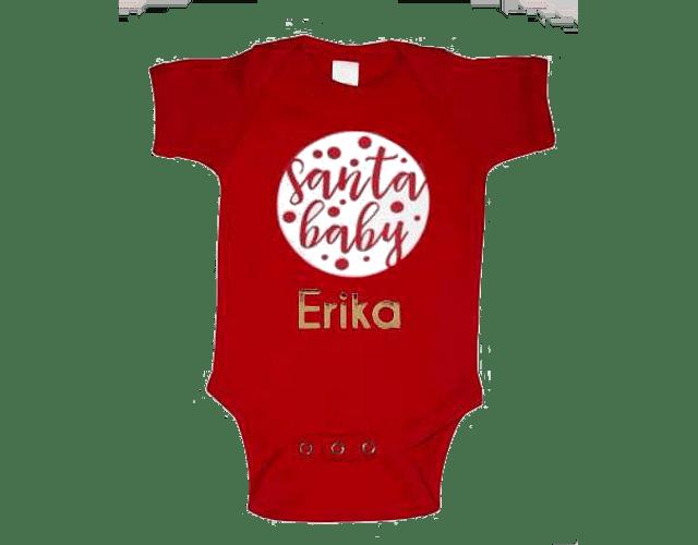 Bodi Body Ropa Para Bebe Navidad con el Nombre de tu bebe