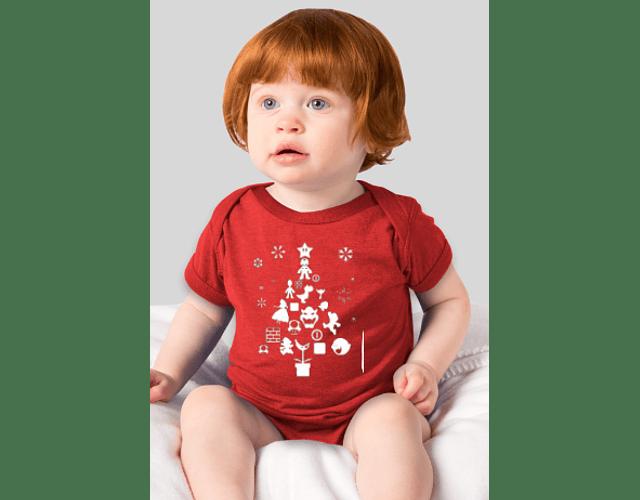 Ropa Bebe Body Bodi Mario bross navidad Baby Monster