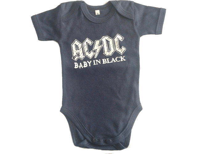 Ropa Bebe Body Bodi rock AC/DC Baby Monster