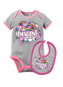 set ropa para bebe rock imagine the beatles  - Baby monster​​​