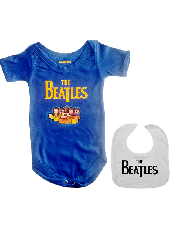 set ropa para bebe rock yellow submarine the beatles