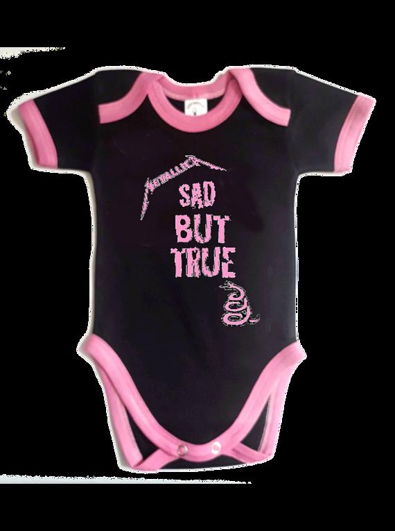 Ropa Bebe Body Bodie rock metallica sad but true Baby Monster