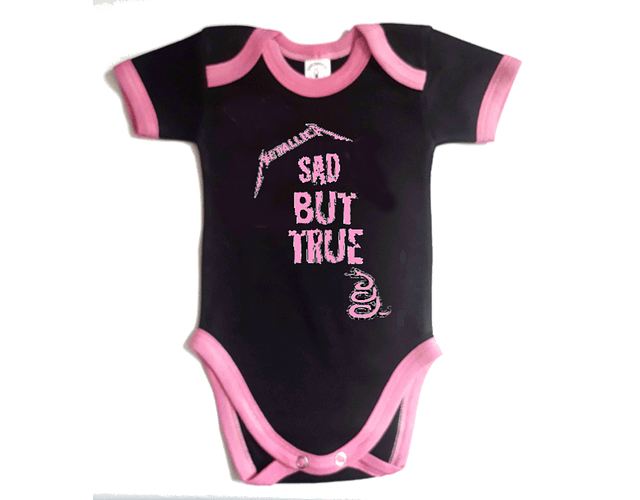 Ropa Bebe Body Bodie rock metallica sad but true Baby Monster