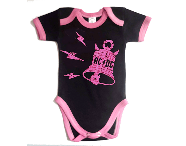 Ropa Bebe Body Bodi rock AC/DC bells  Baby Monster