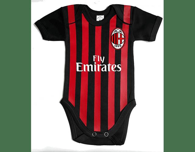 Ropa Para Bebe Body Bodie Futbol A.C Milán Baby Monster