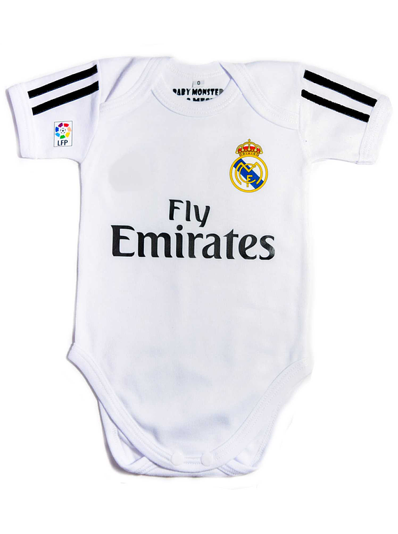 Ropa Para Bebe Body Bodie Futbol real madrid Baby Monster