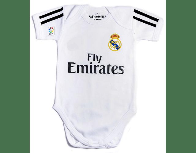 Ropa Para Bebe Body Bodie Futbol real madrid Baby Monster