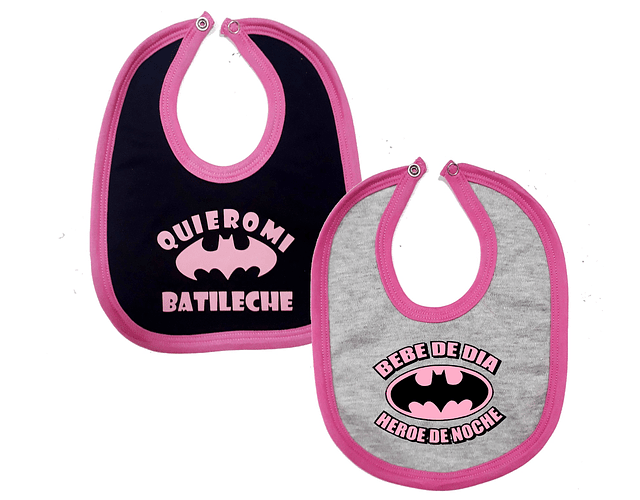 Ropa Para Bebe 2 Baberos Batichica  Baby Monster