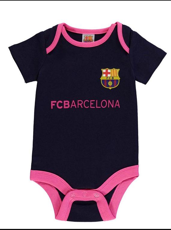 Ropa Para Bebe Body Bodie niña Futbol Barcelona F.C Baby Monster