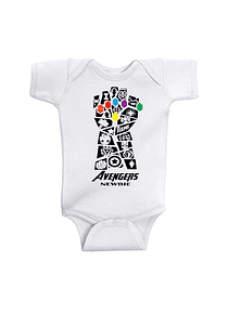 Ropa Para Bebe Body Bodi Avengers end Game Baby Monster