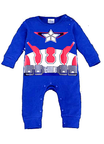 Ropa para bebe pijama marvel Capitan America baby monster