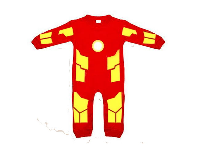Ropa para bebe pijama marvel  iron man baby monster