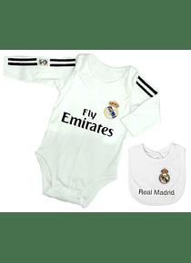 Set ropa para bebe niño niña bodi y babero real madrid Baby monster
