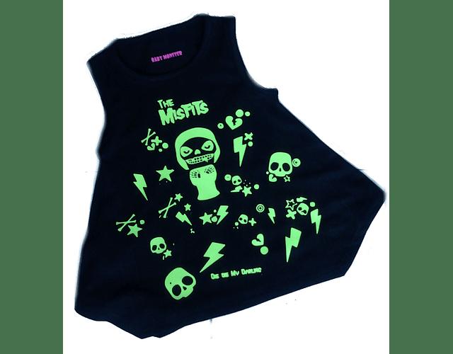 vestidos ropa para bebe niña rock Misfits - Baby monster