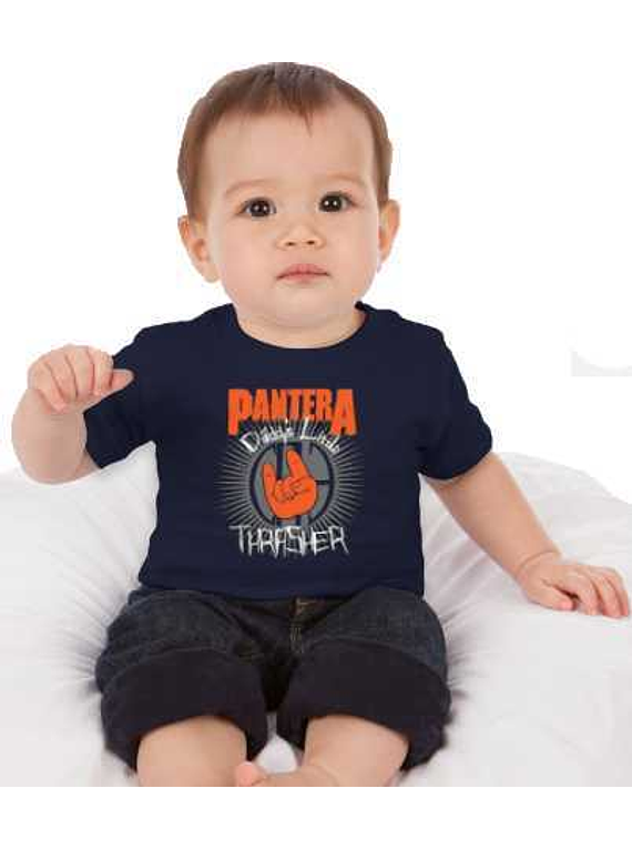 Ropa Para Bebe Body Bodi Rock Pantera Baby Monster