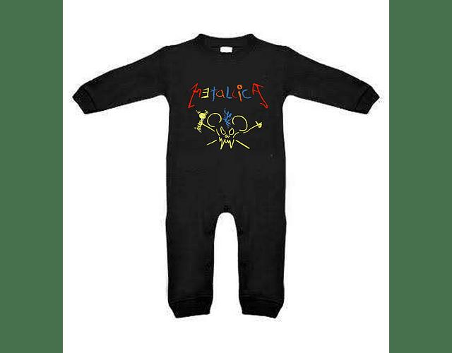 Ropa para bebe pijama Rock metallica crayola  baby monster